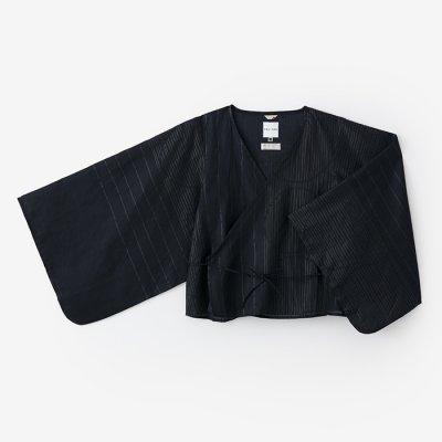 麻 小袖寛衣/水屋と余白 深紺(みずやとよはく しんこん)