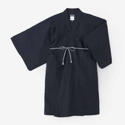 麻 小袖羽織 長丈/濃紺(のうこん)