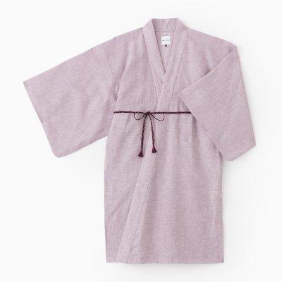 麻 小袖羽織 長丈/鴇鼠(ときねず)