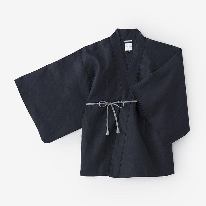 麻 小袖羽織/濃紺(のうこん)