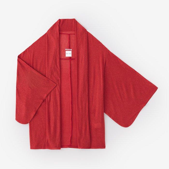 テンセル混 麻 小袖莢(こそでさや)/緋色(ひいろ)