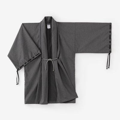 クールマックスストレッチ 宮中袖 間 単/消炭色(けしずみいろ)