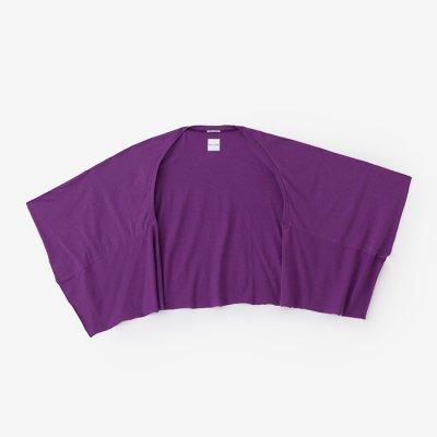 綿モダール むささび 短丈/京紫(きょうむらさき)