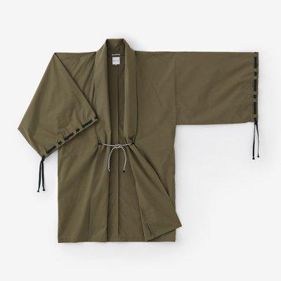 麻混 宮中袖 間 単(きゅうちゅうそで けん ひとえ)/海松色(みるいろ)