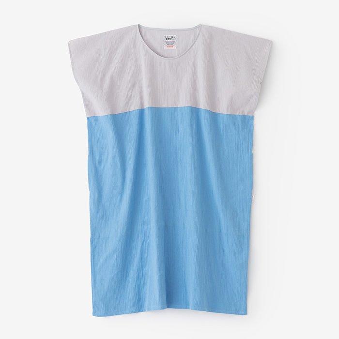 高島縮 長方形衣 組 /白鼠×薄縹(しろねず×うすはなだ)