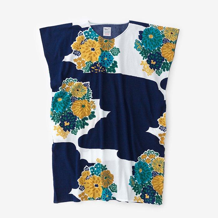 高島縮 長方形衣/花衣(はなごろも)