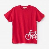 チャリンコ 半袖Tシャツ2/緋色(ひいろ)