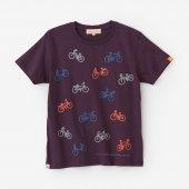 チャリンチャリン 三味 半袖Tシャツ/紫檀色(したんいろ)