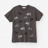 チャリンチャリン 三味 半袖Tシャツ/杢墨(もくずみ)