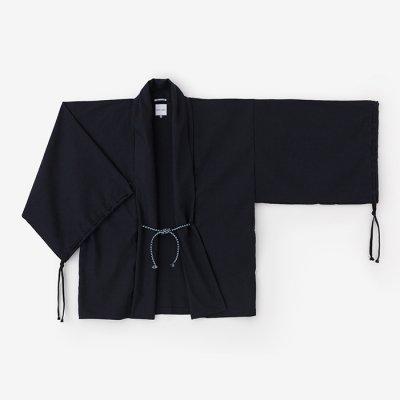 綿麻混 宮中袖 短衣 単/濃紺(のうこん)
