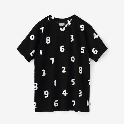 高島縮 半袖Tシャツ/SO-SU-U大 濡羽色(ぬればいろ)