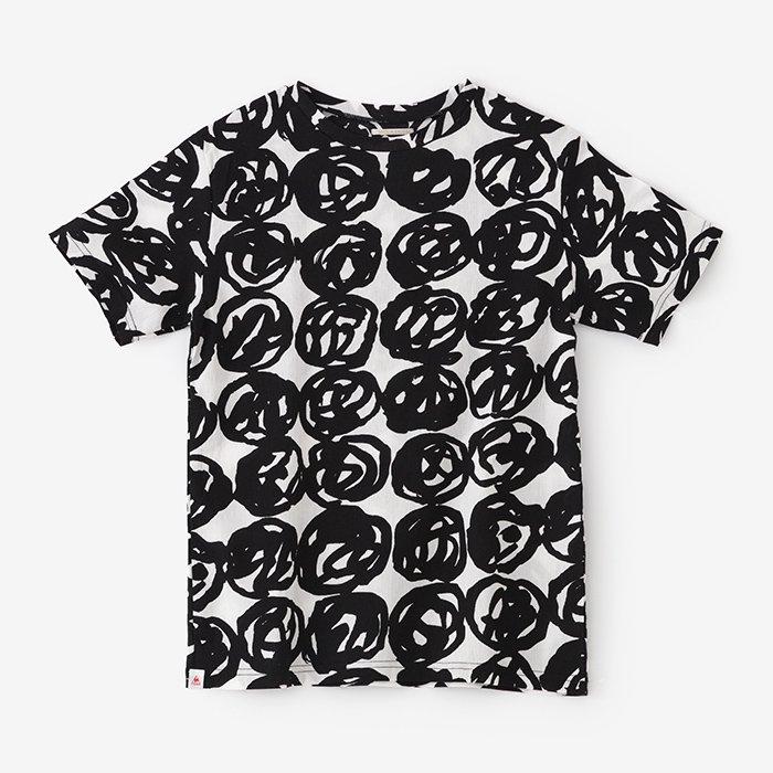 高島縮 半袖Tシャツ/松ぼっくり