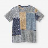 高島縮 半袖Tシャツ/間がさね
