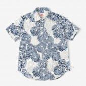 高島縮 半袖シャツ/菊づくし 清風(せいふう)