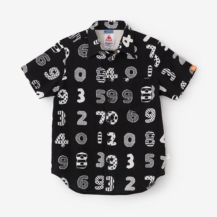 高島縮 半袖シャツ/数遊び(かずあそび)