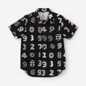 【net限定】高島縮 半袖シャツ/数遊び(かずあそび)