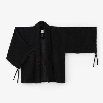 和紙麻紗(わしあさ) 宮中袖 短衣 単/濡羽色(ぬればいろ)