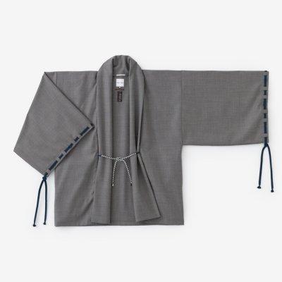 梳毛 宮中袖 短衣 単/鈍色(にびいろ)