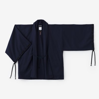 梳毛 宮中袖 短衣 単/濃紺(のうこん)