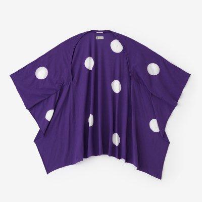 たばた絞り むささび/水玉大 古代紫(こだいむらさき)×つくも