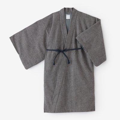 ツイード 小袖羽織 長丈 袷(あわせ)/杢灰(もくはい)