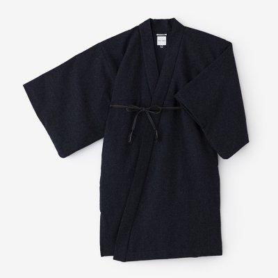ツイード 小袖羽織 長丈 袷(あわせ)/褐色鼠(かちいろねず)