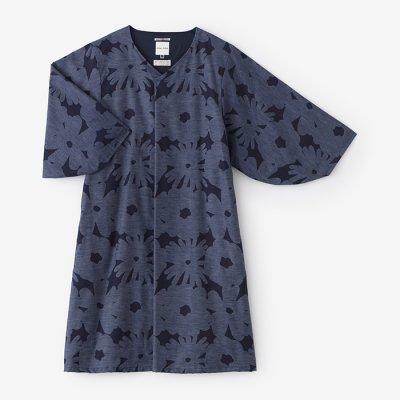 精紡交撚糸 薙刀袖襞衣裳(せいほうこうねんし なぎなたそでひだいしょう)/おおらか 深縹(こきはなだ)