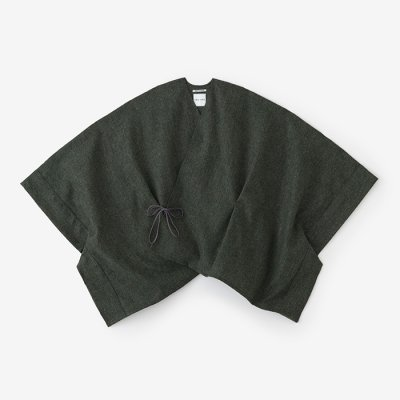 梳毛 きさらぎ 短丈/柳煤竹色(やなぎすすたけいろ)