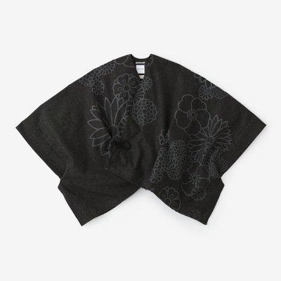 梳毛 きさらぎ 短丈/金襴緞子と余白 黒緑(きんらんどんすとよはく くろみどり)