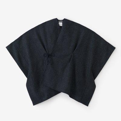 梳毛 豆格子 きさらぎ/濃紺×砂色(のうこん×すないろ)