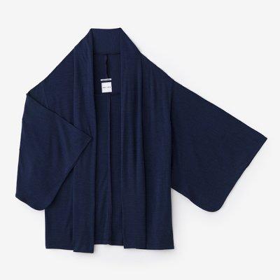 梳毛 両面編 小袖莢(こそでさや)/青褐(あおかち)