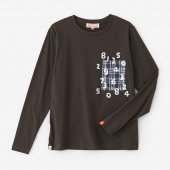 長袖 ポケットTシャツ/鉛色(なまりいろ)×SO-SU-U昆(こん)