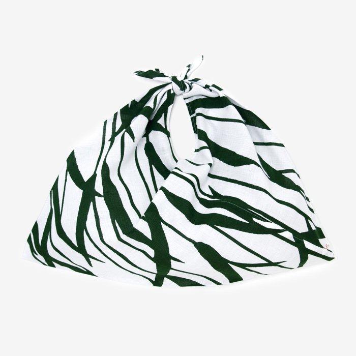 伊勢木綿 小巾折/水辺(みずべ) つくも×海松藍(みるあい)