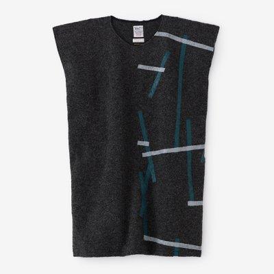 舶来羅紗 長方形衣(はくらいらしゃ ちょうほうけい)/鳶と余白 消炭杢(とびとよはく けしずみもく)