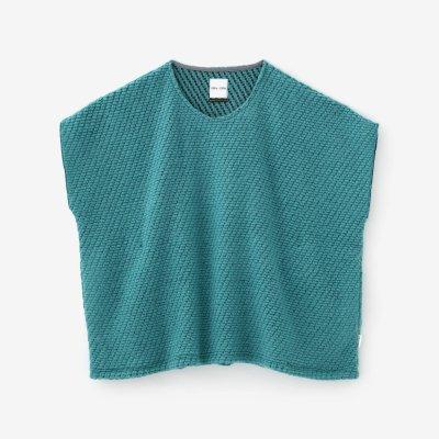 編み 四角衣 肩線(あみ しかくい かたせん)/水浅葱(みずあさぎ)