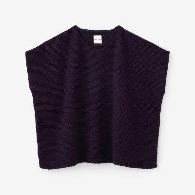 編み 四角衣 肩線(あみ しかくい かたせん)/京紫(きょうむらさき)