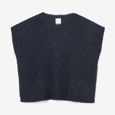 編み 四角衣 肩線(あみ しかくい かたせん)/濃紺(のうこん)