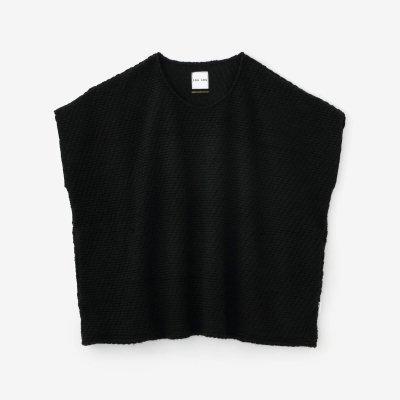 編み 四角衣 肩線(あみ しかくい かたせん)/濡羽色(ぬればいろ)