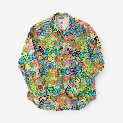 高島縮シャツ/チャリンチャリンらくがき