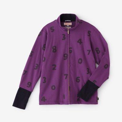 綿モダール ポンチローマ ZIP UP HWS/SO-SU-U 濃紫(こきむらさき)