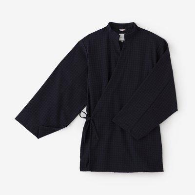 ジャカール菱小紋(ひしこもん) 手柄作務衣(たかみさむえ)/留紺(とめこん)