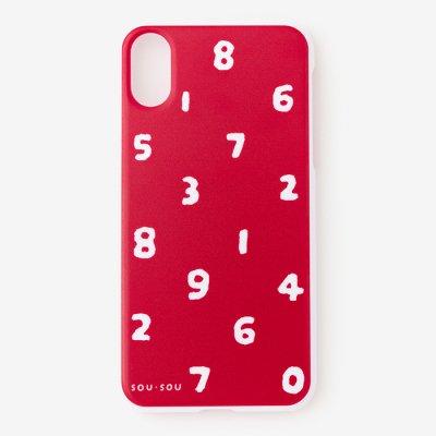 【20%OFF】iPhone X/XS テキスタイルカバー/SO-SU-U 紅色