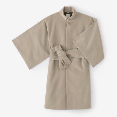 ウールフランネル 角袖外套 袷(かくそでがいとう あわせ)/狐色(きつねいろ)