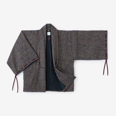 ツイード 宮中袖 短衣 袷(きゅうちゅうそで たんい あわせ)/紺金杢(こんきんもく)