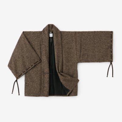 ツイード 宮中袖 短衣 袷(きゅうちゅうそで たんい あわせ)/憲法金杢(けんぽうきんもく)