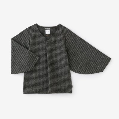斑格子 阿弥 薙刀袖襞衣/杢墨(もくずみ)