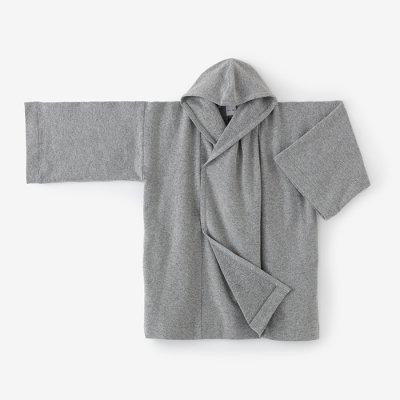 柔輪編 頭巾外套(じゅうりんあみ ずきんがいとう)/杢灰(もくはい)