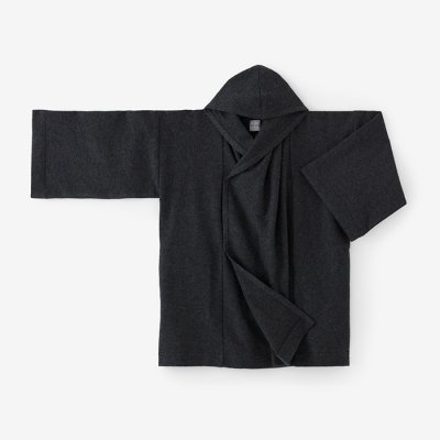柔輪編 頭巾外套(じゅうりんあみ ずきんがいとう)/濃墨(こずみ)