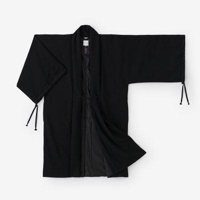 梳毛綾織 宮中袖 袷(そもうあやおり きゅうちゅうそで あわせ)/濡羽色(ぬればいろ)