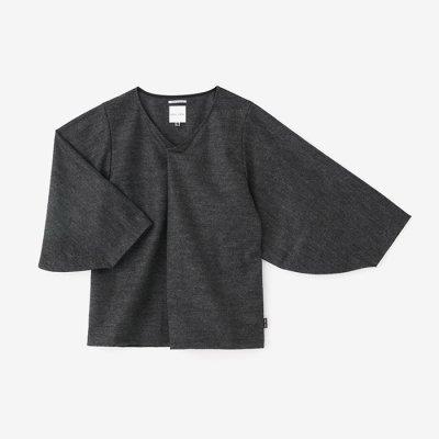 【net限定】千鳥格子編 薙刀袖襞衣/墨色(すみいろ)